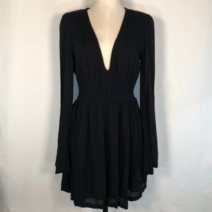 Urban Outfitters V-Neck Gathered Smock Waist Dress